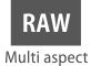 Формат RAW с различным соотношением сторон